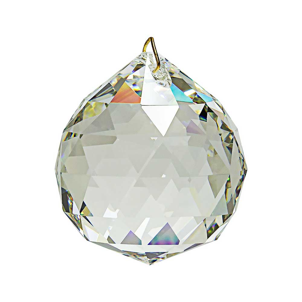 Feng shui hanging crystal ball 1 6 inches for Crystal fall