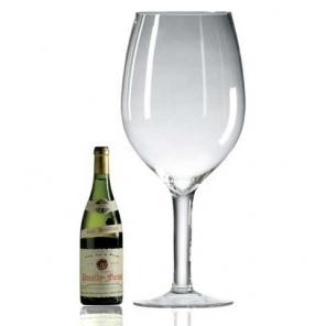 ravenscroft huge crystal wine glass. Black Bedroom Furniture Sets. Home Design Ideas