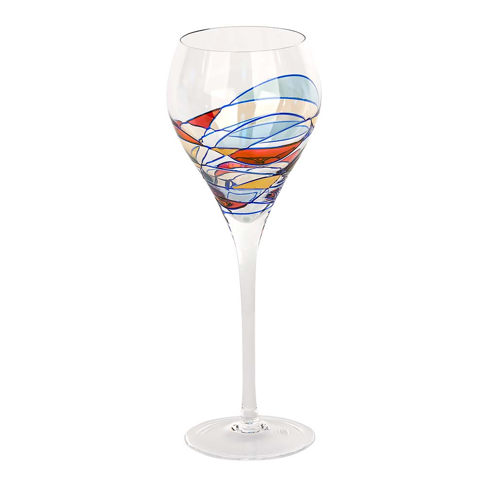 Milano crystal red wine glasses for Crystal fall