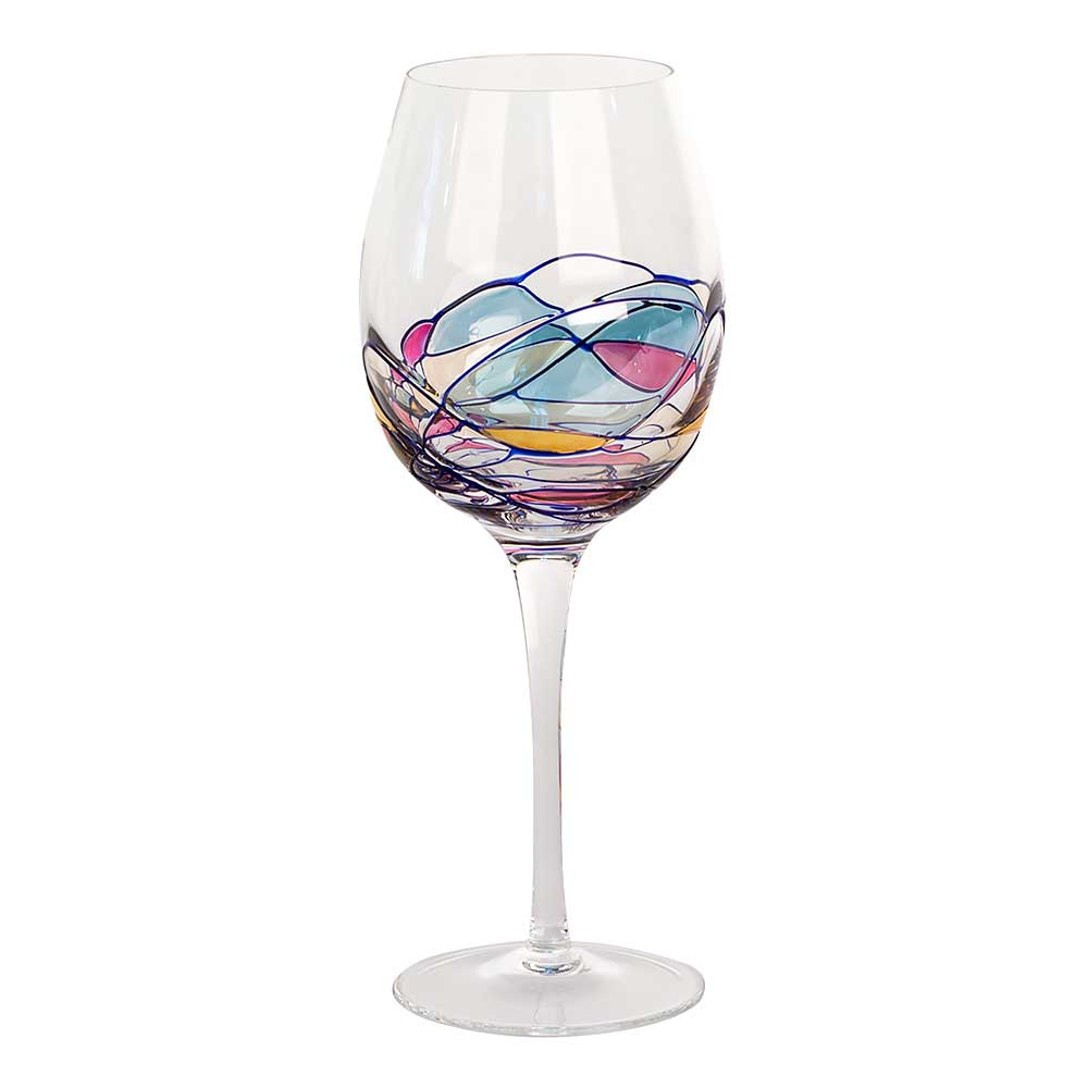 Milano large crystal red wine glasses for Crystal fall