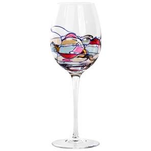 Milano large crystal white wine glasses for Large white wine glasses