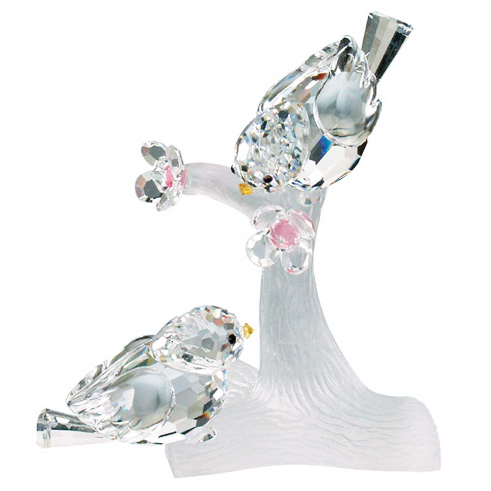 Preciosa crystal love birds figurine for Crystal fall