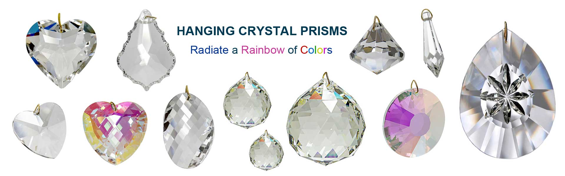 Hanging Crystals, Hanging Crystal Prisms, Window Suncatcher Prisms, Hanging Feng Shui Crystal Balls