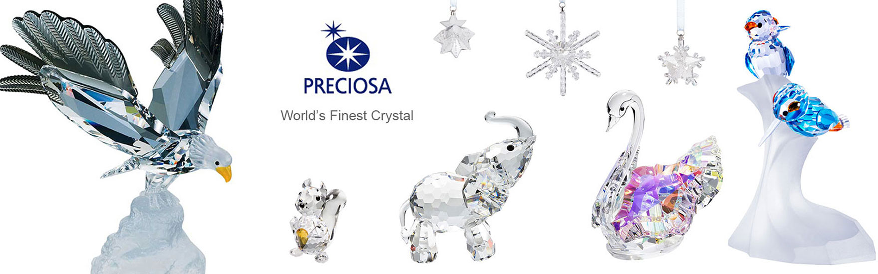 Preciosa Crystal Figurines and Crystal Gifts