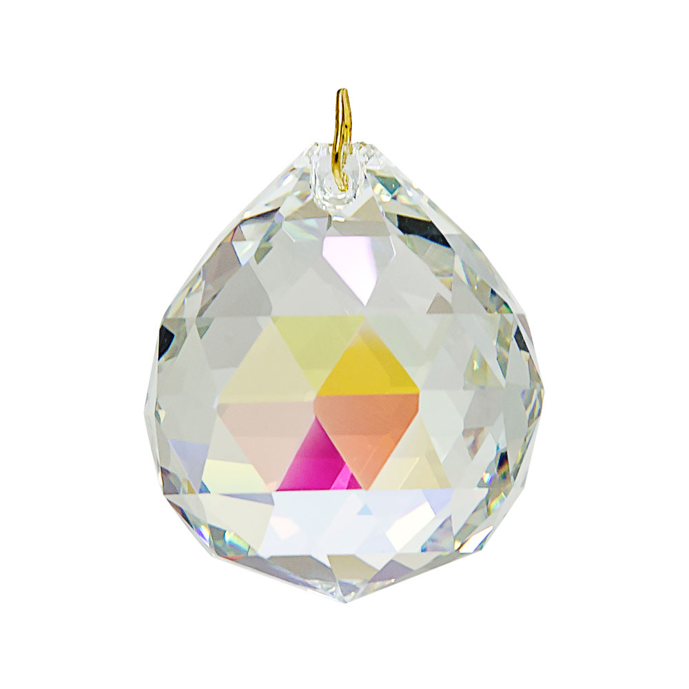 Hanging Aurora Borealis Crystal Ball .8 inches
