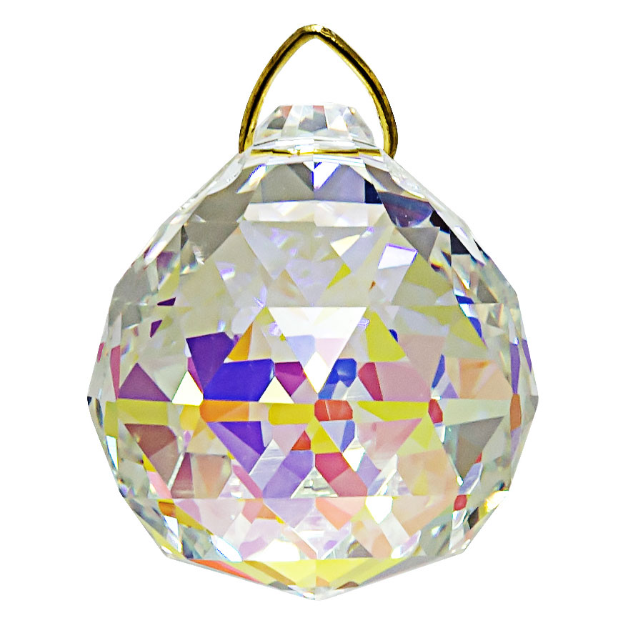 Hanging Aurora Borealis Crystal Ball 1.6 inches
