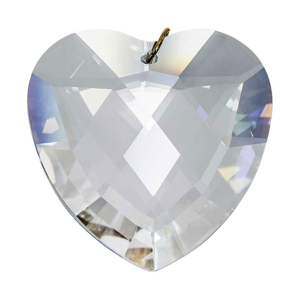 Preciosa Crystal Hanging Heart Prism 1.57 inches