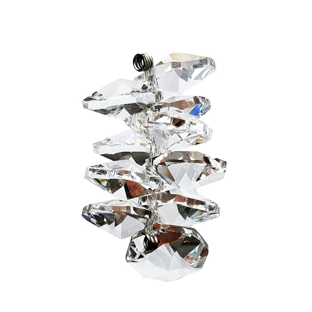 Crystal Octagon Cluster 1.5 inches. Accent your Hanging Prisms or Decorate your Christmas Tree