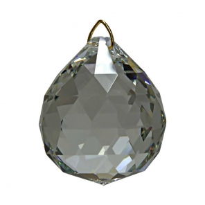 Hanging Black Diamond Crystal Ball 1 6 inches   AllThingsCrystal com