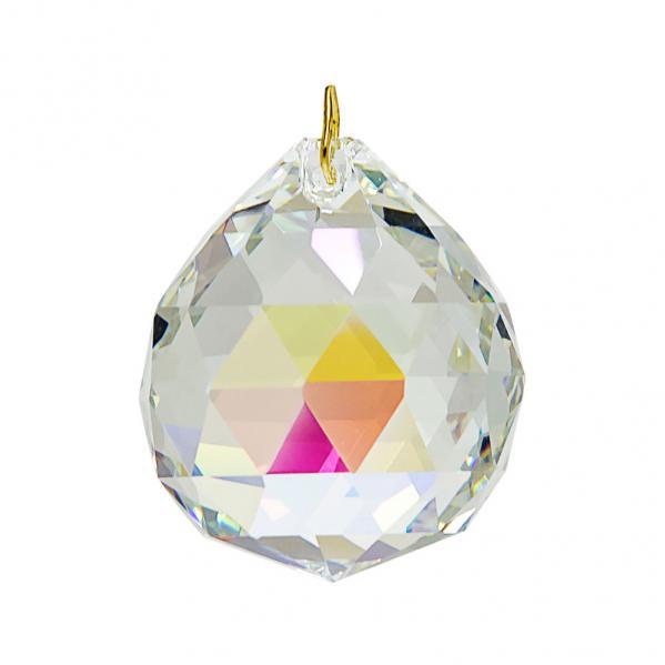 Hanging Aurora Borealis Crystal Ball .8 inches