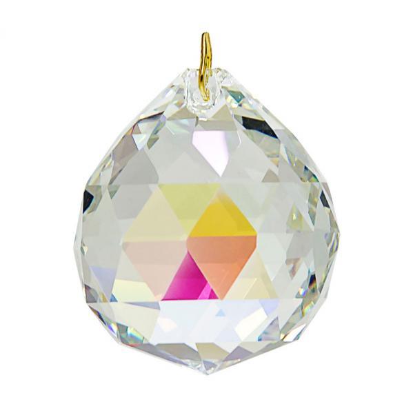 Hanging Aurora Borealis Crystal Ball 1.2 inches