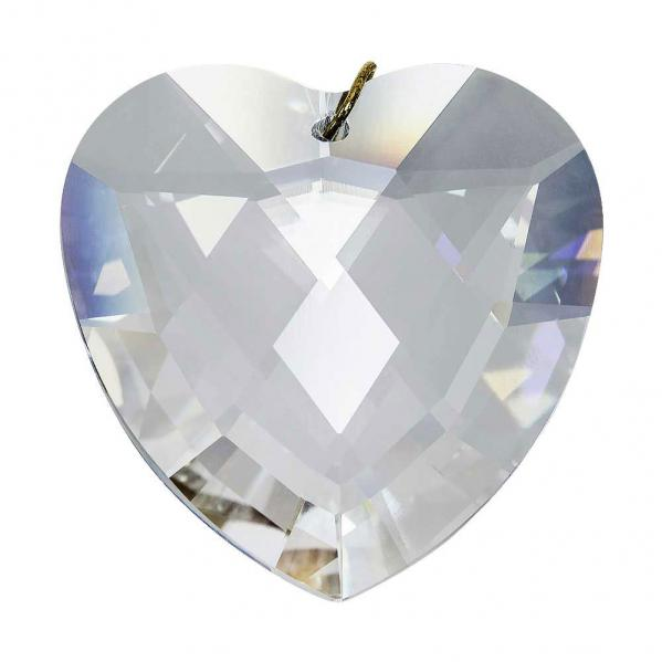 Preciosa Heart Pendant, Clear Crystal 1.6 inches