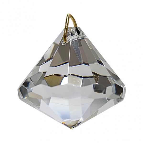 Hanging Bell Top Crystal Window Prism Suncatcher 30mm / 1.2 inches