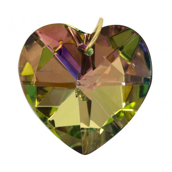 Hanging VM Crystal Heart - 1.2 inches