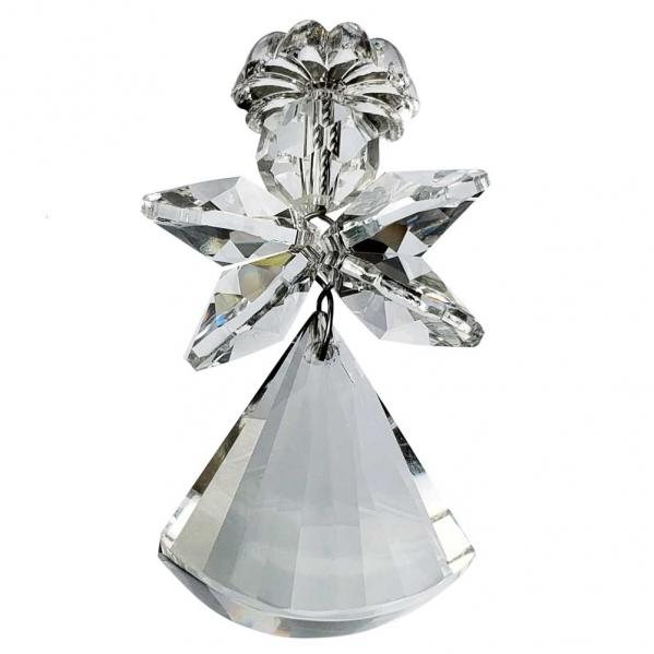 Faceted Hanging Crystal Angel, 2 inches / 50mm