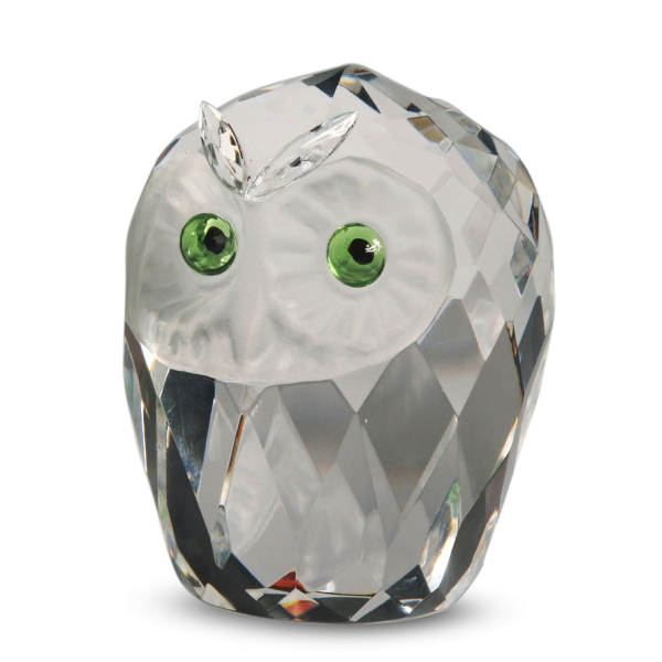 Crystal Owl Head Giant 3 inches