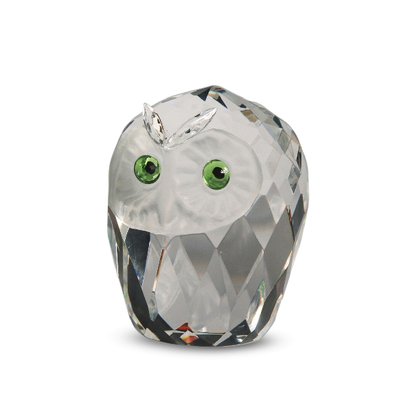 Crystal Owl Head 1.75 inches