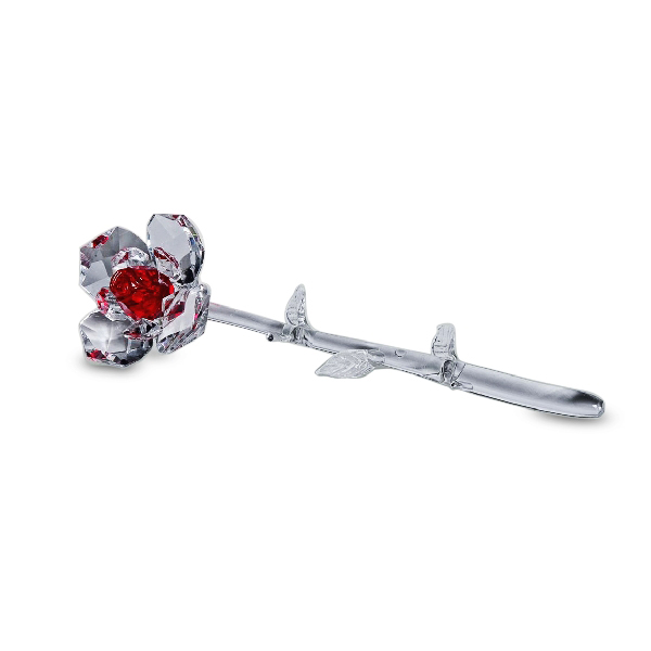 Long Stem Crystal Red Rose 8.0 in.
