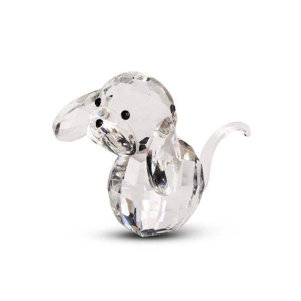 Crystal Dog Figurine with Big Ears