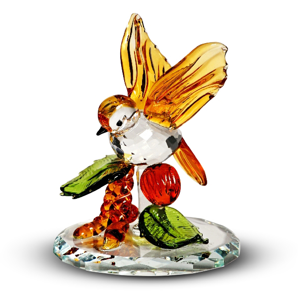 Crystal Tropical Bird Figurine