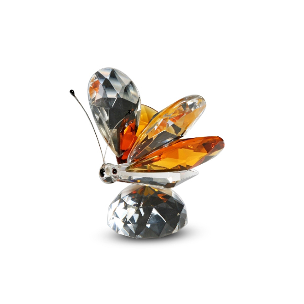 Crystal Amber Butterfly Figurine 2 inches