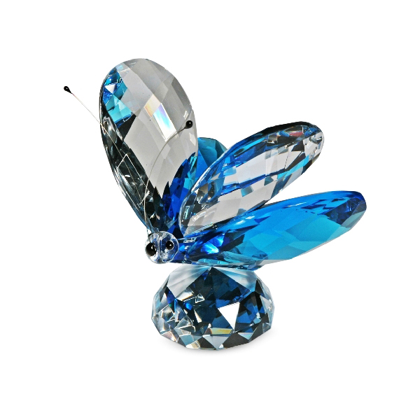 Crystal Blue Butterfly Figurine 2.75 inches
