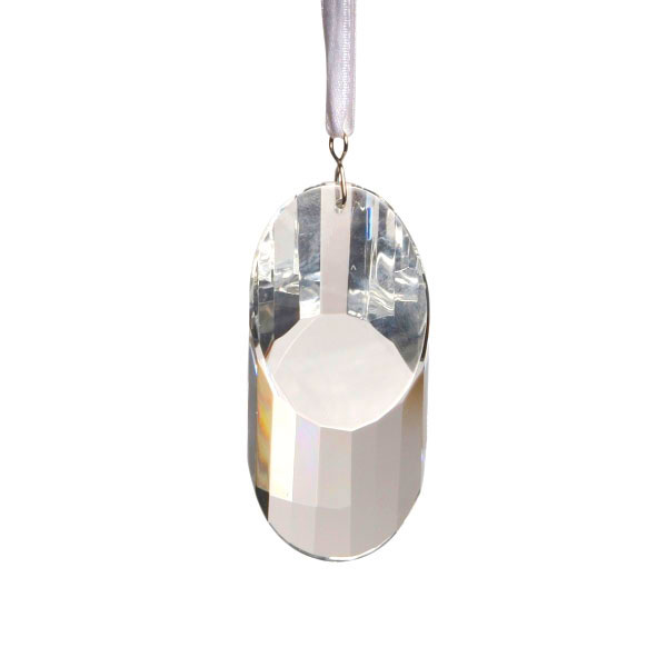 Crystal Oval Cut Hanging Window Prism 2.6 Inches