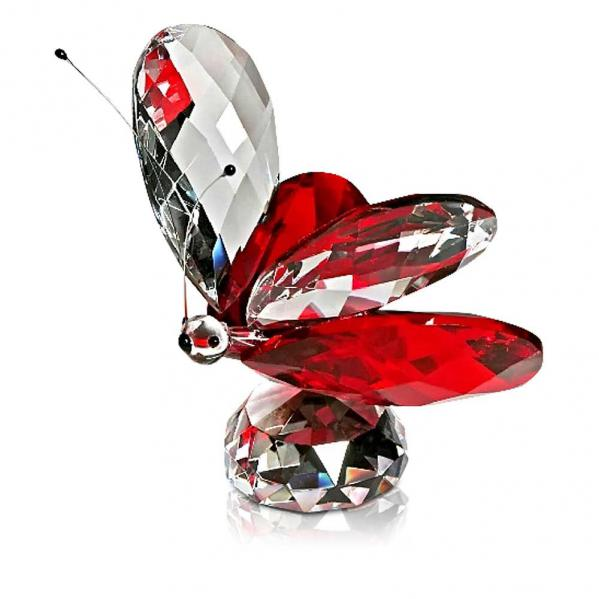 Crystal Red Butterfly Figurine 2.75 inches