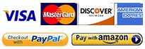 Visa, Master Card, American Express and Discover credit cards accepted at AllThingsCrystal.com or PayPal and Amazon Payments