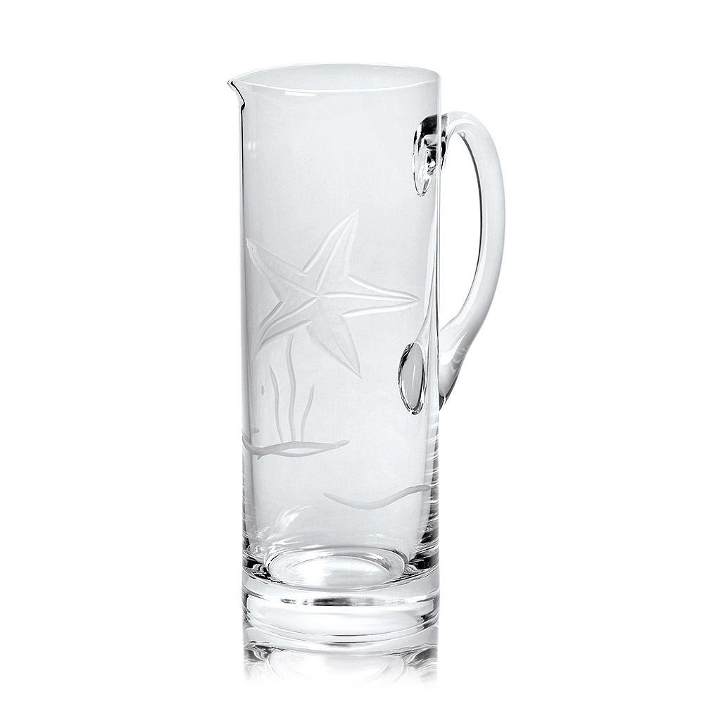Rolf Glass Starfish Glass Pitcher 35 oz.