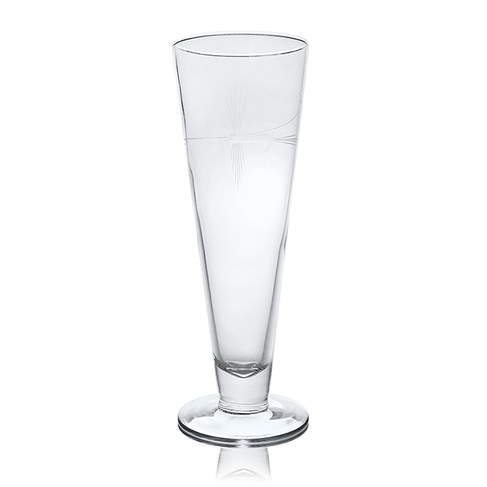 Rolf Glass Fly Fishing Pilsner Glasses 16 oz. (Set of 4)