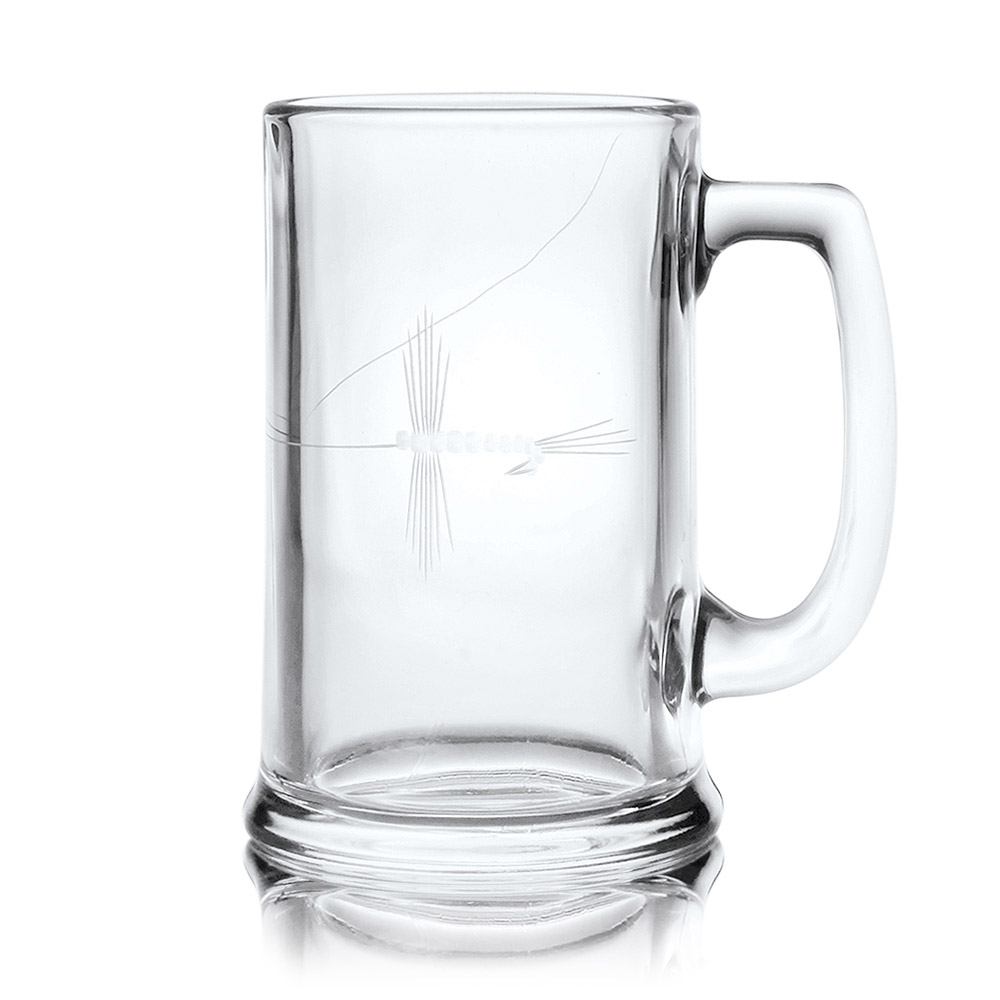 Rolf Glass Fly Fishing Beer Mugs 15 oz. (Set of 4)