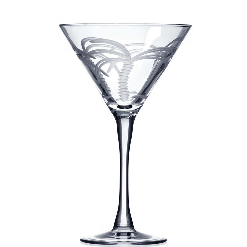 Rolf Glass Palm Tree Martini Glasses 10 oz. (Set of 4)