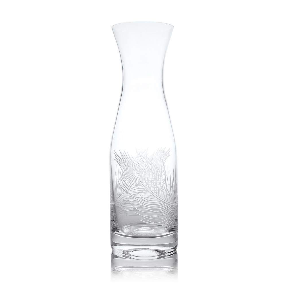 Rolf Glass Peacock Wine Carafe 34 oz.