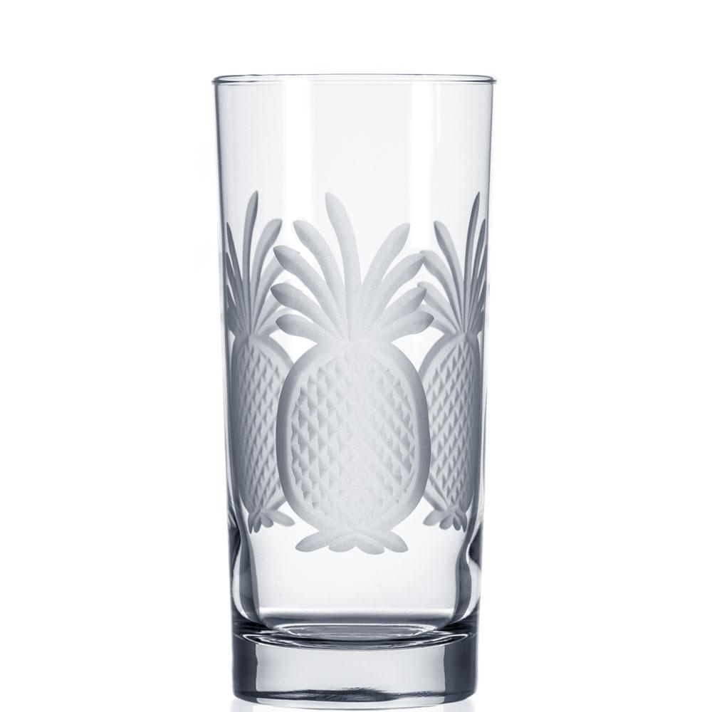 Rolf Glass Pineapple Highball Drink Glasses 15 oz. (Set of 4)