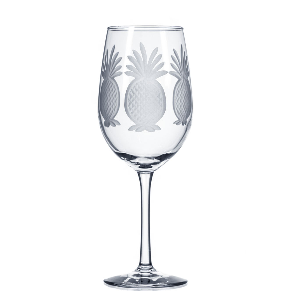 Rolf Glass Pineapple White Wine Glasses 12 oz. (Set of 4)