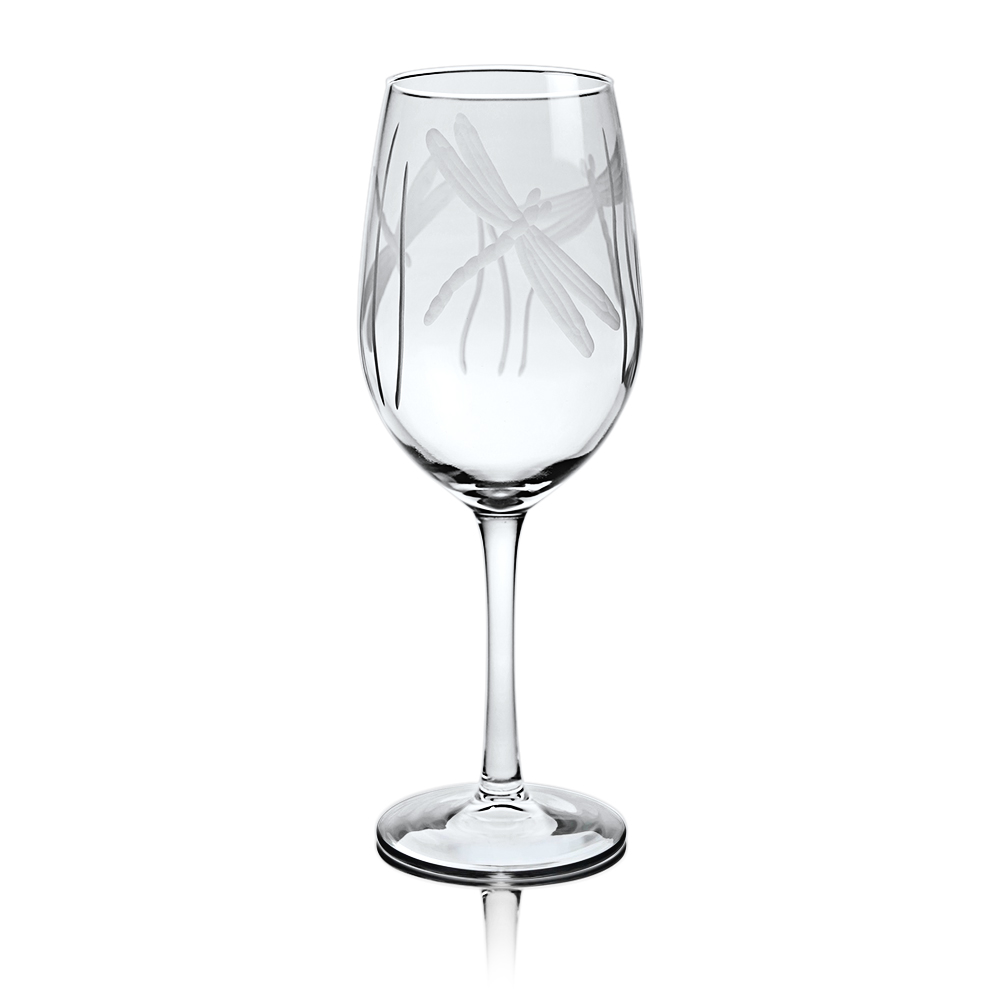 Rolf Glass Dragonfly White Wine Glasses 12 oz. (Set of 4)