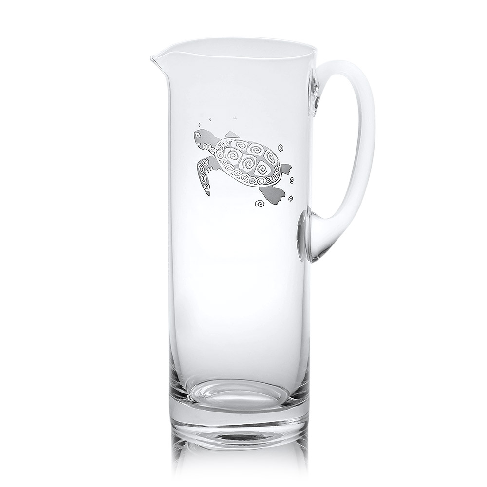 Rolf Glass Sea Turtle Glass Pitcher 35 oz.
