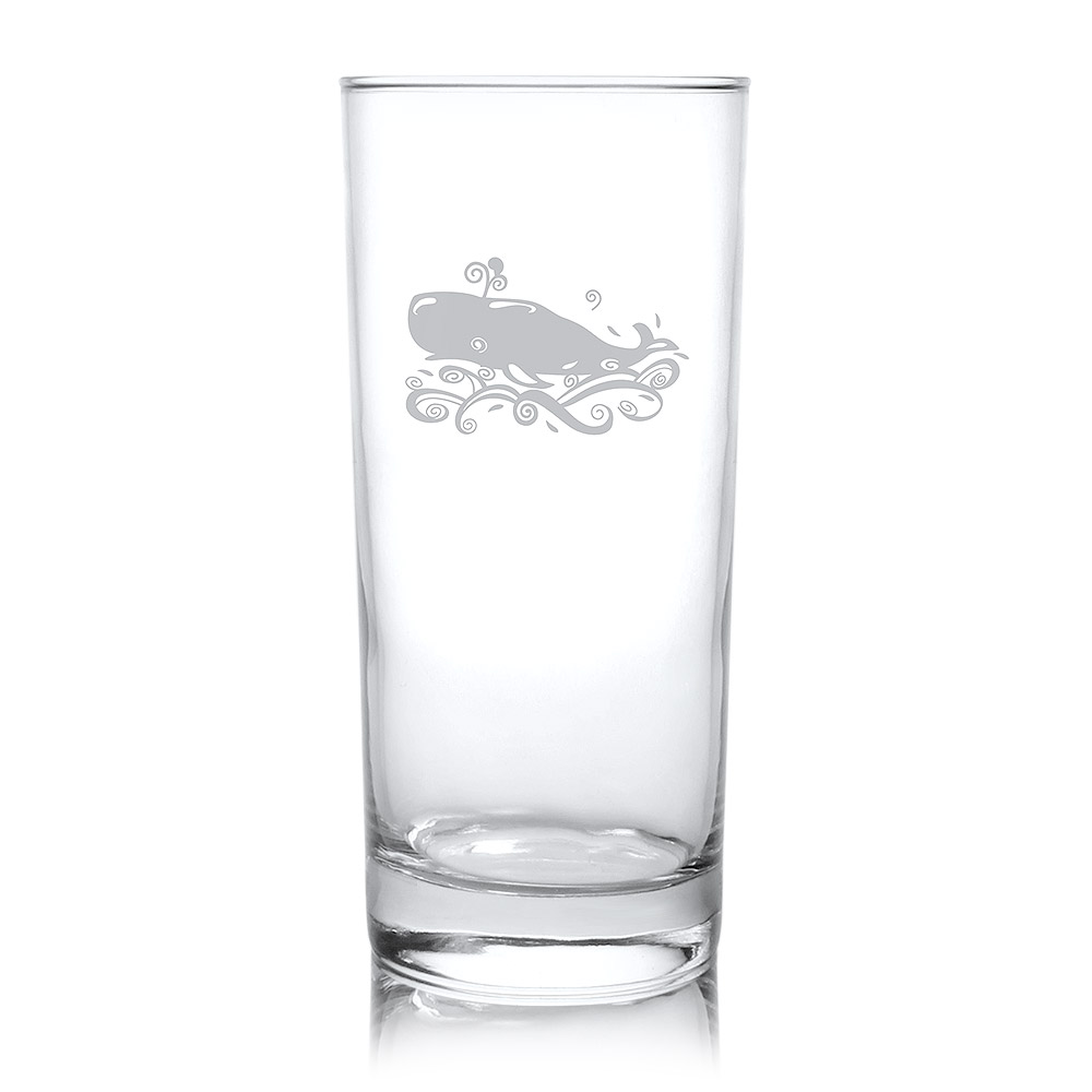 Rolf Glass Whale Highball Drink Glasses 15 oz. (Set of 4)