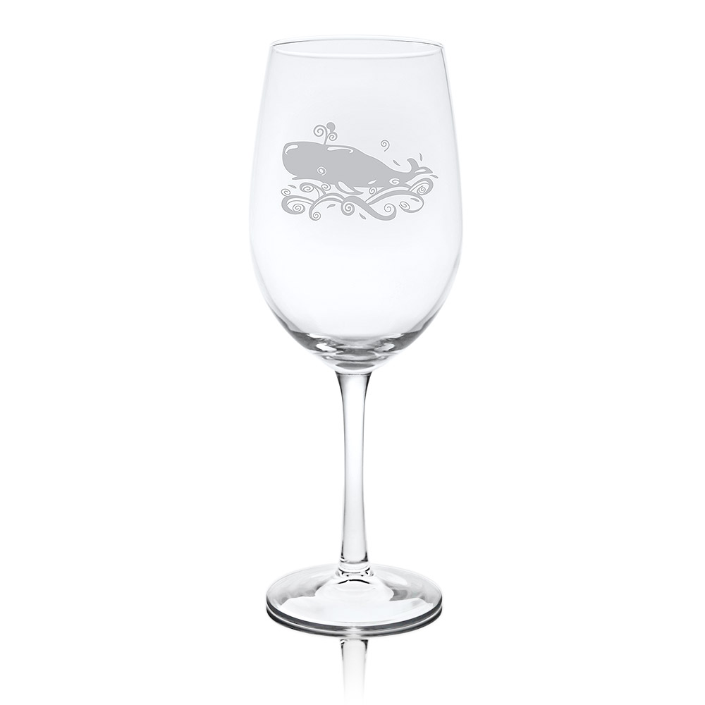 Rolf Glass Whale White Wine Glasses 12 oz. (Set of 4)