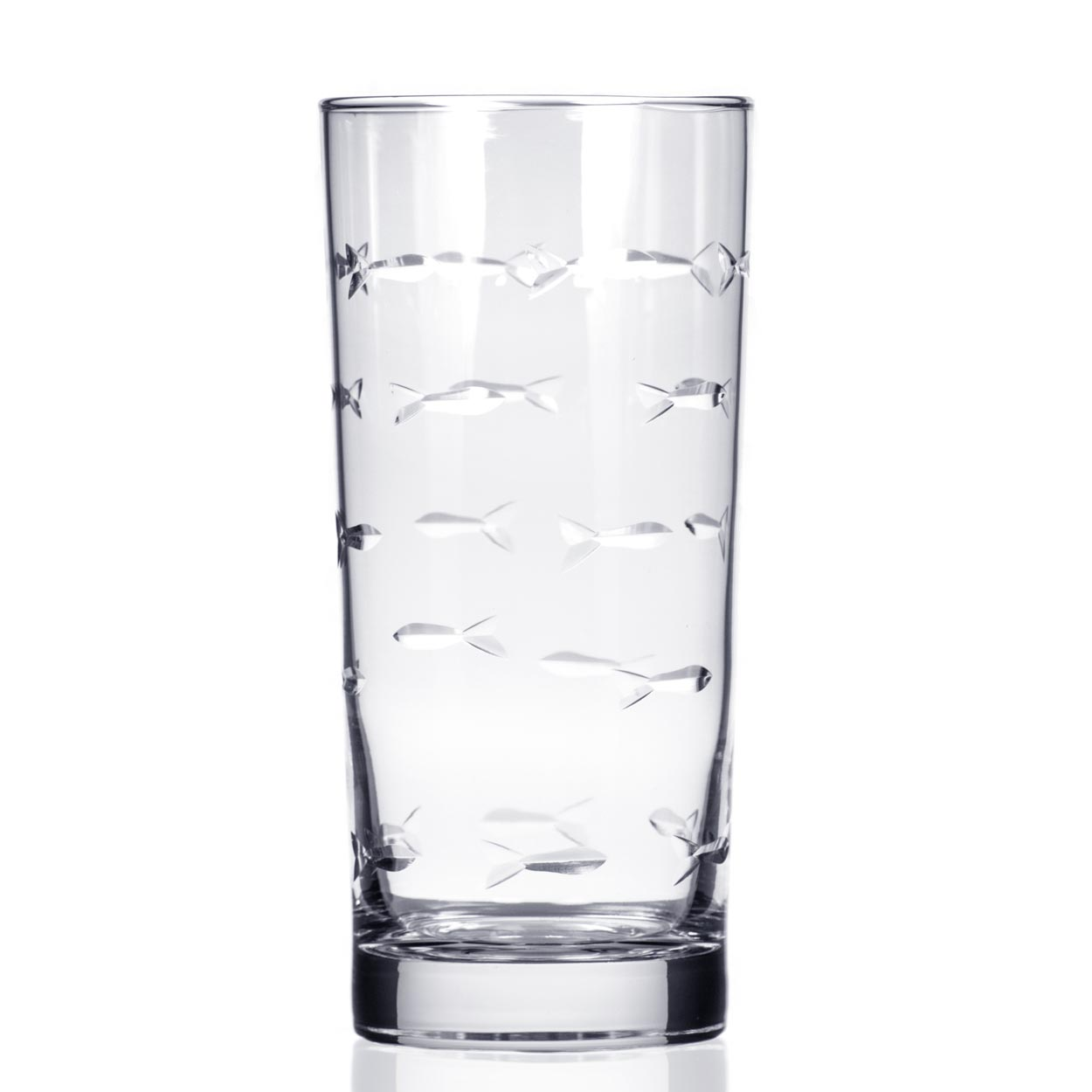 Rolf Glass School of Fish Highball Glasses 15 oz. (Set of 4)