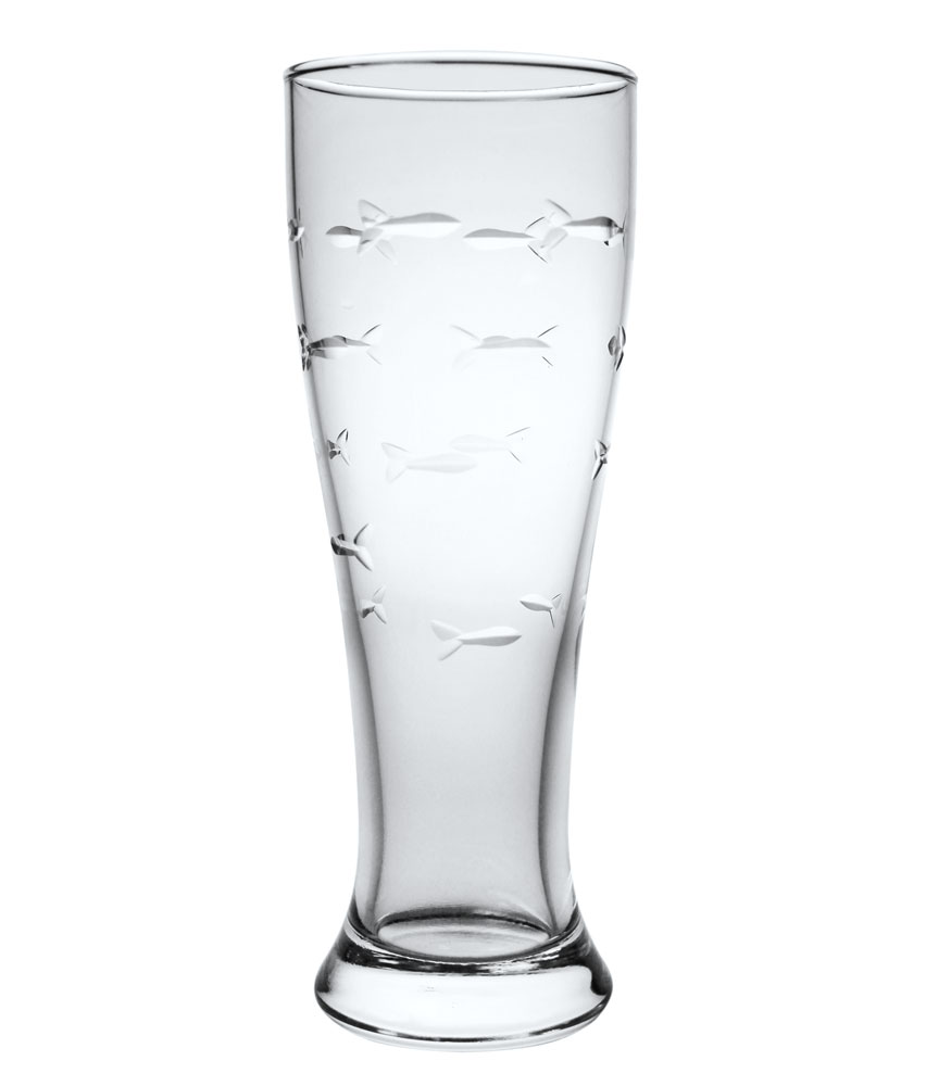 Rolf Glass School of Fish Beer Glasses 16 oz. (Set of 4)