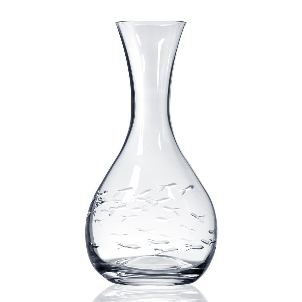 Rolf Glass School of Fish Wine Carafe 42 oz.