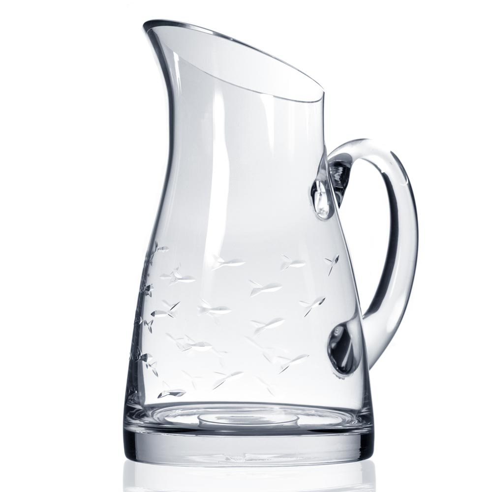 Rolf Glass School of Fish Large Pitcher 67 oz.