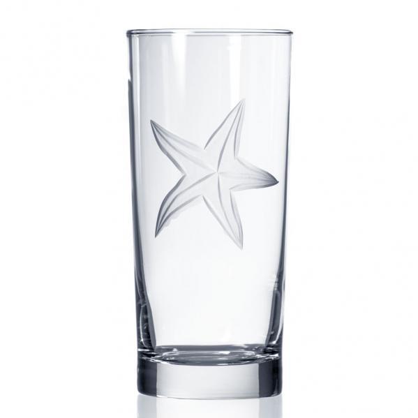 Rolf Glass Starfish Highball Drink Glass 15 oz. Made in USA