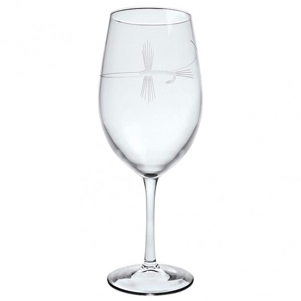 Rolf Glass Fly Fishing Wine Glasses, All Purpose 18 oz. (Set of 4)