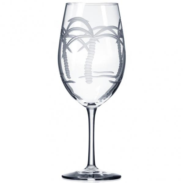 Rolf Glass Palm Tree Red Wine Glasses 18 oz. (Set of 4)
