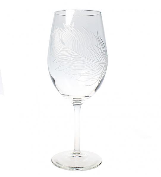 Rolf Glass Peacock Wine Glasses, All Purpose 18 oz. (Set of 4)
