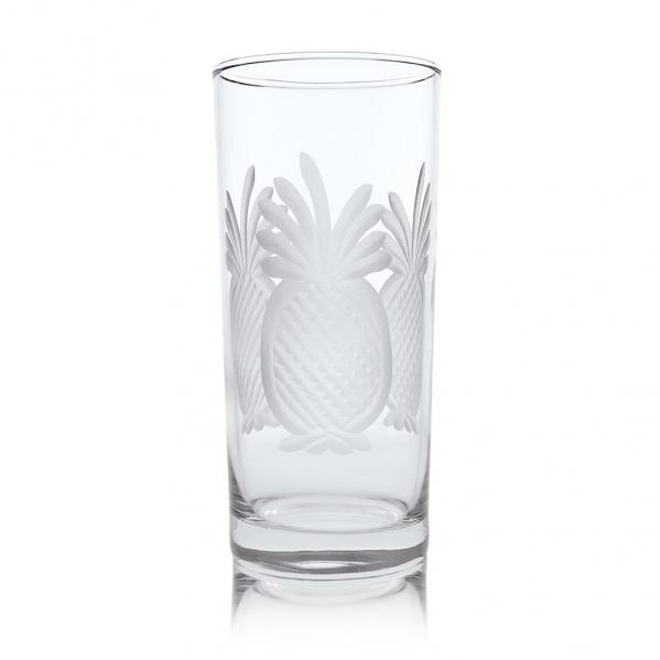 Rolf Glass Pineapple Highball Drink Glasses 15 oz. (Set of 4)