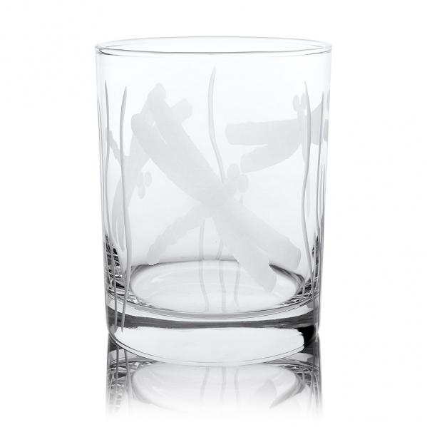 Rolf Glass Dragonfly Double Old Fashioned Whiskey Glasses 12 oz. (Set of 4)